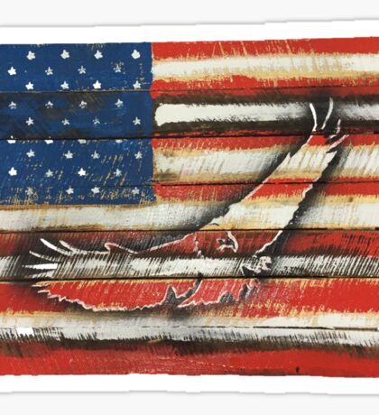 United States Flag with Eagle 'Merica America Sticker