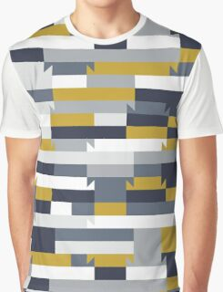 Abstract geometric color blocked pattern Graphic T-Shirt