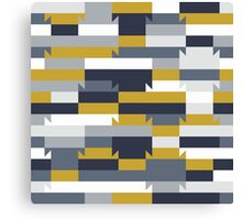 Abstract geometric color blocked pattern Canvas Print