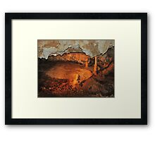 Tranquil Caves Framed Print