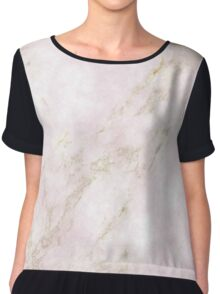 Rose Gold Marble Chiffon Top