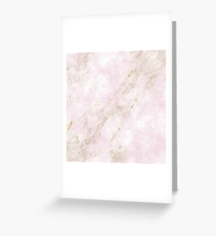 Rose Gold Marble Greeting Card