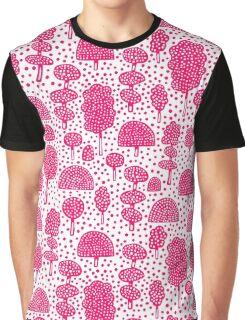 Arboretum 230715 - Neon Red on White Graphic T-Shirt