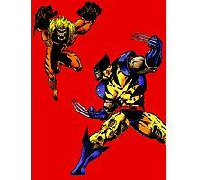 Wolverine vs Sabretooth Photographic Print