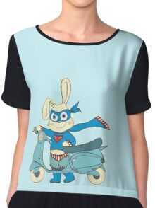 Be-All-You-Can-Be Bunny Rides in to Save the Day Chiffon Top