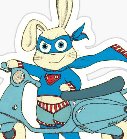 Be-All-You-Can-Be Bunny Rides in to Save the Day Sticker