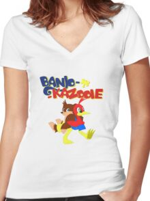 Banjo-Kazooie: FIM Women's Fitted V-Neck T-Shirt