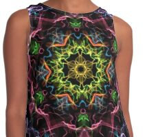 Colorful  ornament Contrast Tank