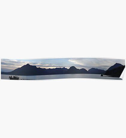 Elgol Sunset (Panorama) Poster