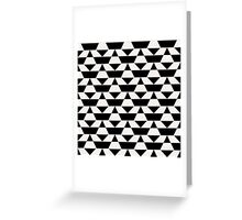 Black and white op art pattern Greeting Card