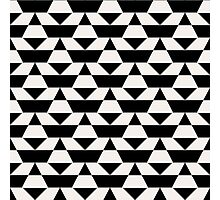 Black and white op art pattern Photographic Print