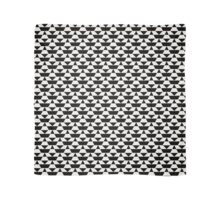 Black and white op art pattern Scarf