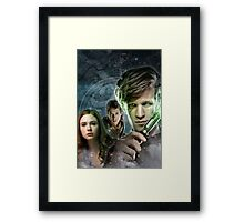 DOCTOR WHO : THE DOCTOR, AMY & RORY Framed Print