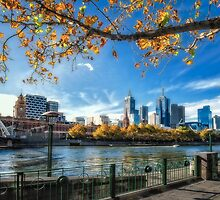 Melbourne on a crisp Autumn day by mellosphoto