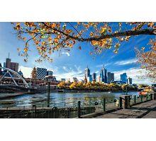 Melbourne on a crisp Autumn day Photographic Print