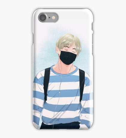 BTS V - Blue Stripes Tshirt  iPhone Case/Skin