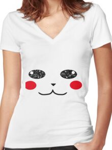 Pika Pika Women's Fitted V-Neck T-Shirt
