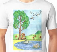 Bear With Flowers Unisex T-Shirt