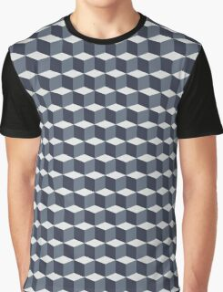 Cubes pattern in grey Graphic T-Shirt