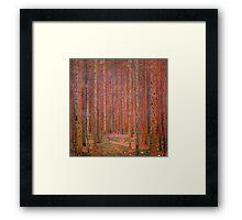 Tannenwald I by Gustav Klimt Fine Art Framed Print