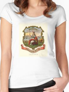 Historical Coat of Arms of California Women's Fitted Scoop T-Shirt