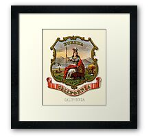 Historical Coat of Arms of California Framed Print