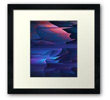 Coastal Cliffs At Sunset Abstract Cubism Art Framed Print