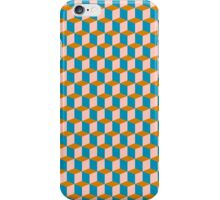 Cubes pattern in brown iPhone Case/Skin