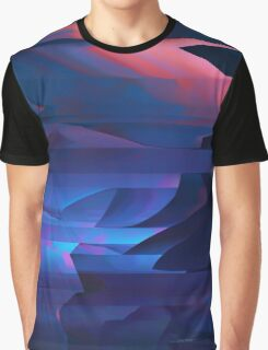 Coastal Cliffs At Sunset Abstract Cubism Art Graphic T-Shirt