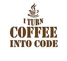 Turn Into Code Photographic Print