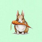 Bunny Eating a Carrot by SprawlingPuppy