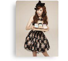 TaeYeon SNSD Girls Generation KPOP Canvas Print