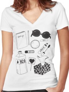 Crybaby Survival Kit Women's Fitted V-Neck T-Shirt