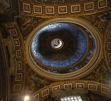 St Peters Basilica Ceiling, Vatican by Chris Hood