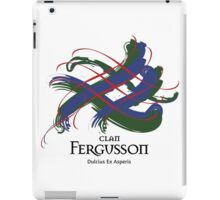 Clan Fergusson - Prefer your gift on Black/White tell us at info@tangledtartan.com  iPad Case/Skin