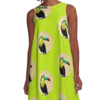 Toucan-polygonal style   A-Line Dress
