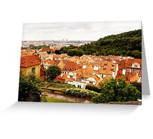Prague. Top view Greeting Card