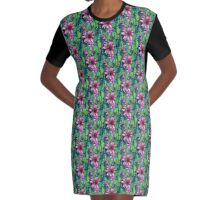 Bead Curtain Graphic T-Shirt Dress