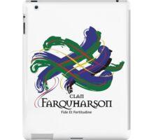 Clan Farquharson - Prefer your gift on Black/White tell us at info@tangledtartan.com  iPad Case/Skin