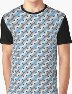 Pattern with diagonal waves Graphic T-Shirt