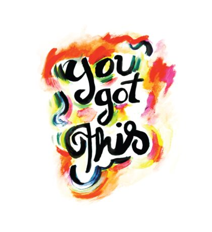 You Got This Typographic Quote Sticker