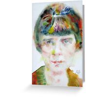 KATHERINE MANSFIELD - watercolor portrait.2 Greeting Card
