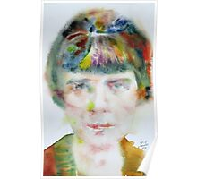 KATHERINE MANSFIELD - watercolor portrait.2 Poster