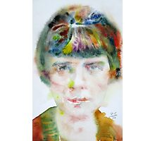 KATHERINE MANSFIELD - watercolor portrait.2 Photographic Print