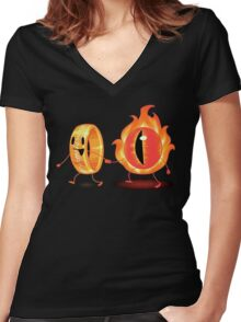 The Ring & Sauron Women's Fitted V-Neck T-Shirt
