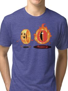 The Ring & Sauron Tri-blend T-Shirt