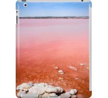 Pink salt lake and salt crystals at Torrevieja  iPad Case/Skin