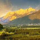 Sunset in Gesäuse mountains by Delfino