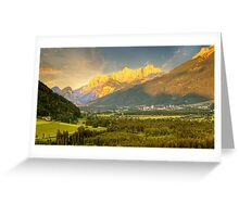Sunset in Gesäuse mountains Greeting Card