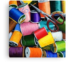 Threads - Colorful Sewing Thread painting Canvas Print